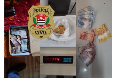 Polícia Civil de Fartura prende casal em flagrante por tráfico de drogas